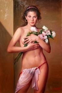 Lucio Amitrano-ImpressioniArtistiche-22-Nude With Flowers