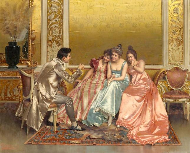 Пленник слушательниц. Vittorio Reggianini (1858-1938)